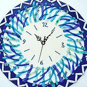 Для дома и интерьера handmade. Livemaster - original item Wall clock AZHUR, fusing. Handmade.