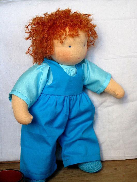 Вальдорфская игрушка ручной работы. Ярмарка Мастеров - ручная работа. Купить Вальдорфская кукла-мальчик 30-35 см. Handmade.