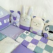 Работы для детей, handmade. Livemaster - original item Animals Pillows Bumpers for boy/girl, bumpers in the crib. Handmade.