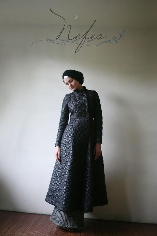 """Верхняя одежда ручной работы. Ярмарка Мастеров - ручная работа. Купить Пальто """"Хейф"""". Handmade. Черный, длинное пальто, nefes"""
