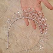 Свадебный салон handmade. Livemaster - original item Crown, tiara rose quartz