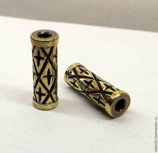Для украшений ручной работы. Ярмарка Мастеров - ручная работа. Купить Трубочка латунная. Handmade. Желтый, трубочка, трубочки бусины