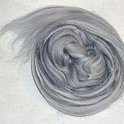 Материалы для творчества ручной работы. Ярмарка Мастеров - ручная работа Шерсть+тусса(шелк) ЗИМА -цвет, шерсть для валяния. Handmade.