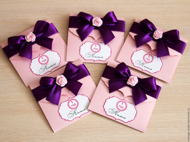 Приглашения на день рождение девочки своими руками, хорошего