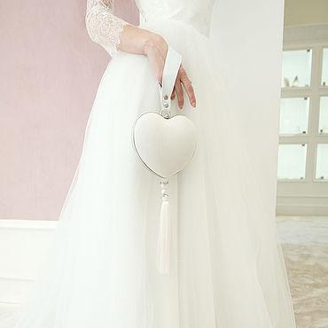 """Сумки и аксессуары ручной работы. Ярмарка Мастеров - ручная работа Свадебная сумка сердце Wedding Princess """"Cinderella"""". Handmade."""