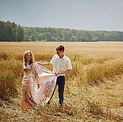 """Одежда ручной работы. Ярмарка Мастеров - ручная работа Шелковое платье """"Единственная"""" для Венчания. Handmade."""