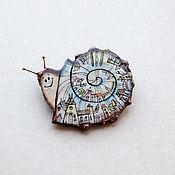 Украшения handmade. Livemaster - original item Copper brooch with the author`s picture. Handmade.