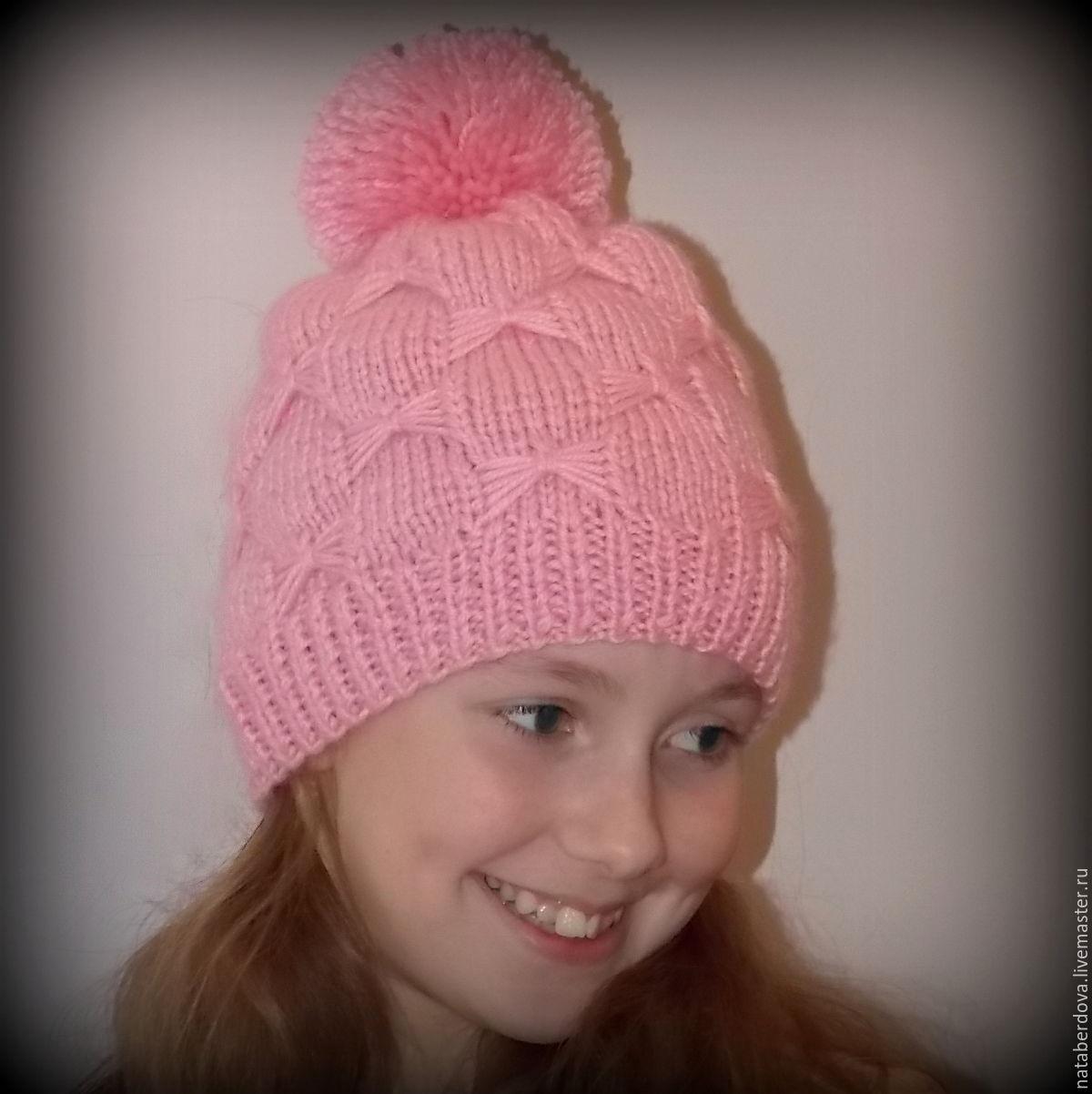 Вязаная шапочка для девочек своими руками фото 573