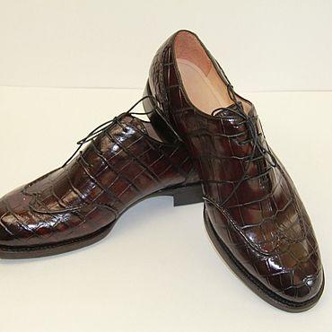 Обувь ручной работы. Ярмарка Мастеров - ручная работа Туфли: Оксфорды цельнокройные. Handmade.