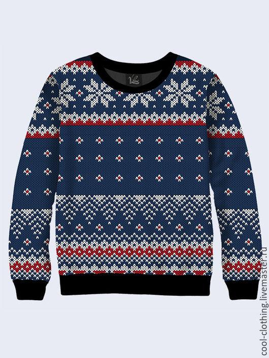 """Кофты и свитера ручной работы. Ярмарка Мастеров - ручная работа. Купить Свитшот """"Снежинки-2"""". Handmade. Разноцветный, кофта"""