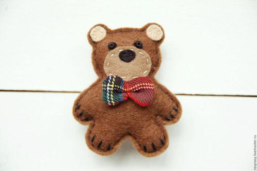 Броши ручной работы. Ярмарка Мастеров - ручная работа. Купить Брошь Медведь Брошь Мишка фетр Текстильная брошь It's My Teddy Bear. Handmade.