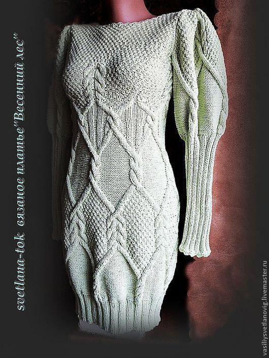 """Кофты и свитера ручной работы. Ярмарка Мастеров - ручная работа. Купить Платье -туника """"Светлый лес"""" авторская модель.. Handmade."""