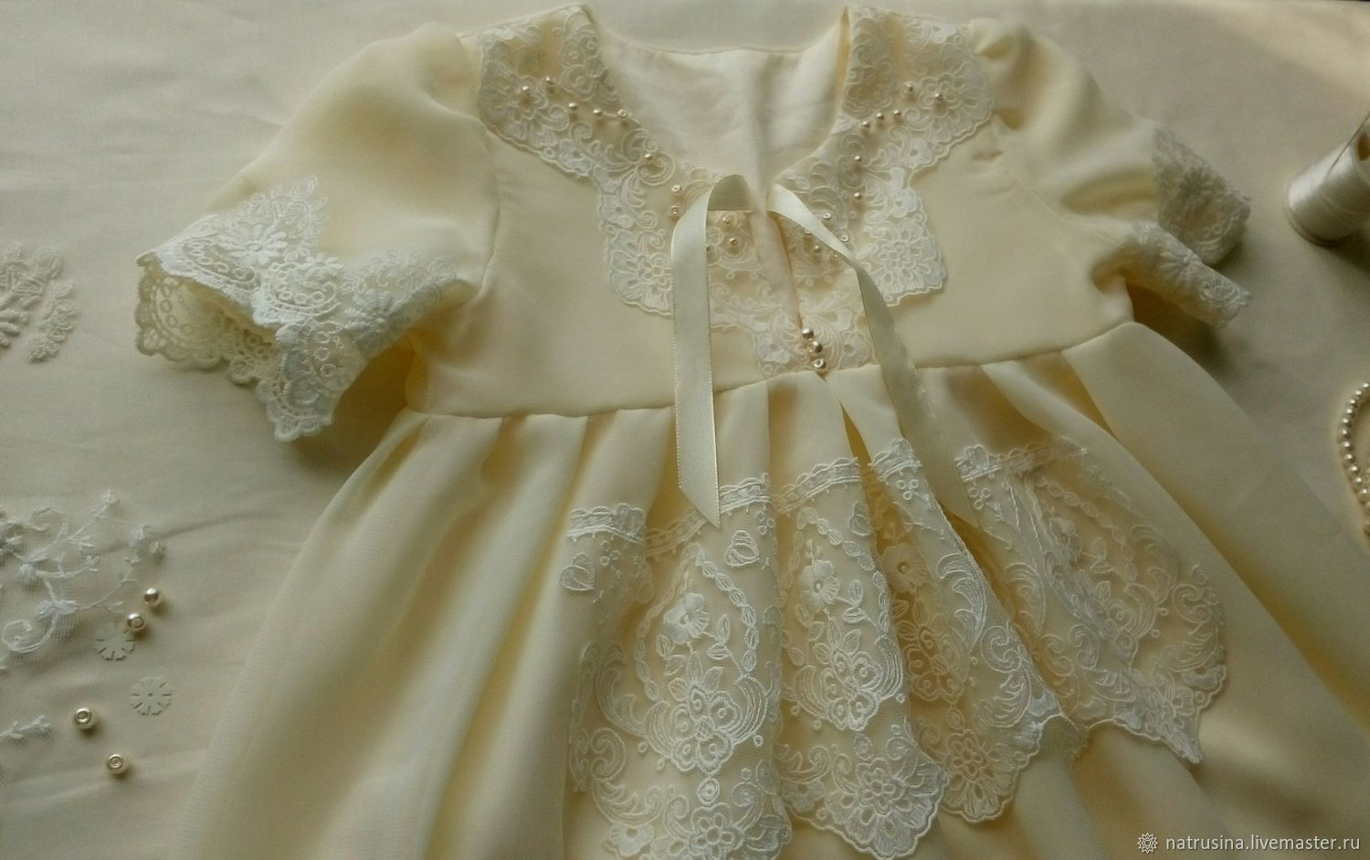Christening dress for 4-6 months. Fancy dress. Ceremonial dress, Dresses, Moscow, Фото №1