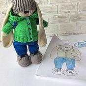 Куклы и игрушки ручной работы. Ярмарка Мастеров - ручная работа Зайчик-мальчик тильда. Handmade.