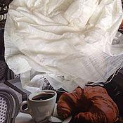 Материалы для творчества ручной работы. Ярмарка Мастеров - ручная работа Шарф-палантин 100% шелк. Handmade.