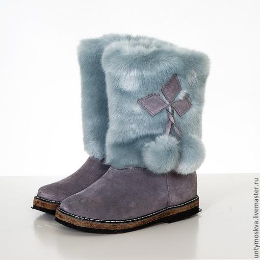 Обувь ручной работы. Ярмарка Мастеров - ручная работа. Купить Унты женские ( войлочная подошва ) уж26. Handmade.