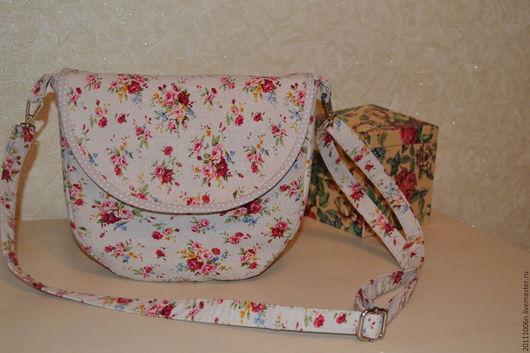 """Женские сумки ручной работы. Ярмарка Мастеров - ручная работа. Купить летняя сумка""""лён и цветы"""". Handmade. Бежевый, лоскутное шитье"""