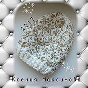 """Аксессуары ручной работы. Ярмарка Мастеров - ручная работа жаккардовая шапка """"Белое золото"""". Handmade."""