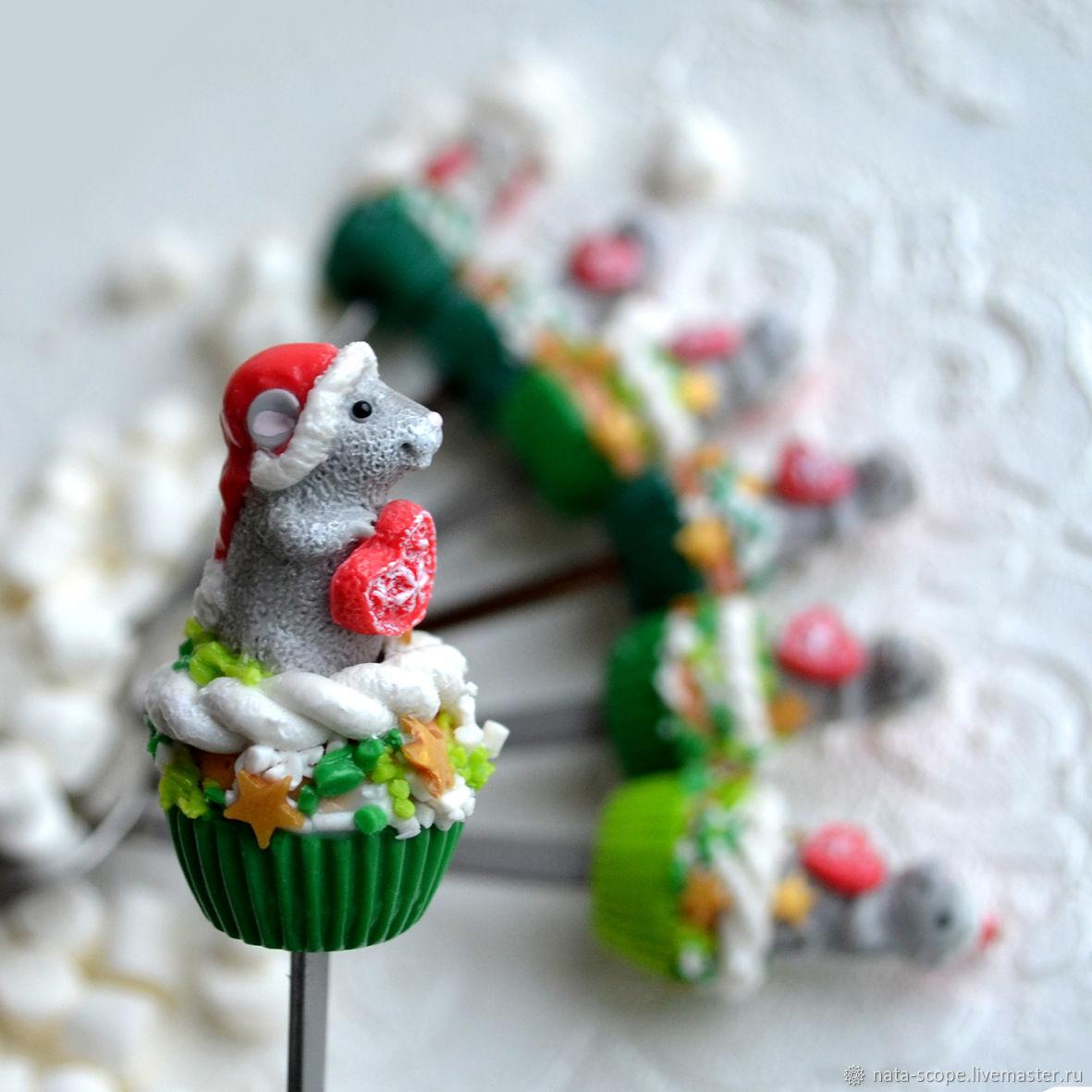 Ложки сладкие Новогодний мышонок, Ложки, Москва,  Фото №1