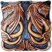 Сувениры и подарки handmade. Livemaster - original item Backgammon Dragon 65 x 65 cm handmade. Handmade.