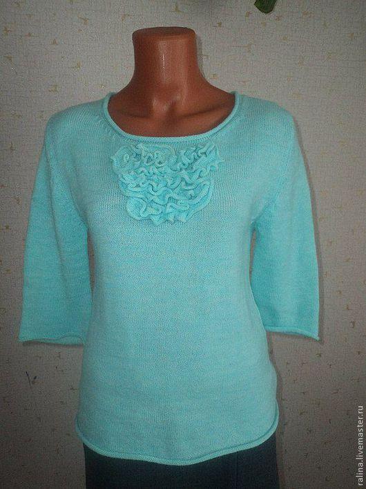Кофты и свитера ручной работы. Ярмарка Мастеров - ручная работа. Купить блузон. Handmade. Бирюзовый, мятный цвет, блузон