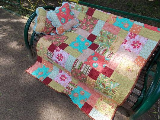 """Текстиль, ковры ручной работы. Ярмарка Мастеров - ручная работа. Купить Лоскутное одеяло """"Начало лета"""". Handmade. Комбинированный"""