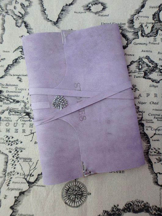 Блокноты ручной работы. Ярмарка Мастеров - ручная работа. Купить Кожаный блокнот А5 на кольцах Винтажный Лаванда. Handmade. Блокнот