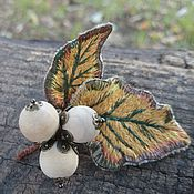 """Brooches handmade. Livemaster - original item Embroidered brooch """"Hazel"""". Handmade."""