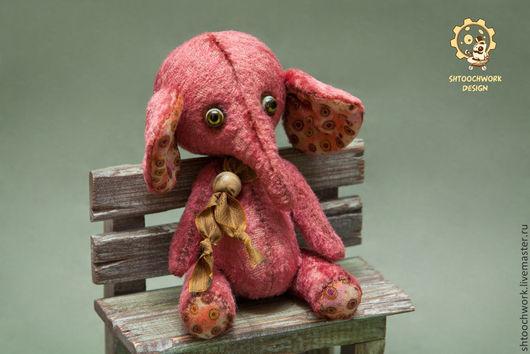 Мишки Тедди ручной работы. Ярмарка Мастеров - ручная работа. Купить Слоник Дони. Handmade. Коралловый, слон