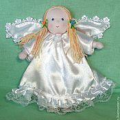 Куклы и игрушки ручной работы. Ярмарка Мастеров - ручная работа текстильная кукла ангелочек. Handmade.