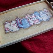 """Для дома и интерьера ручной работы. Ярмарка Мастеров - ручная работа Поднос """" Винтажный"""". Handmade."""