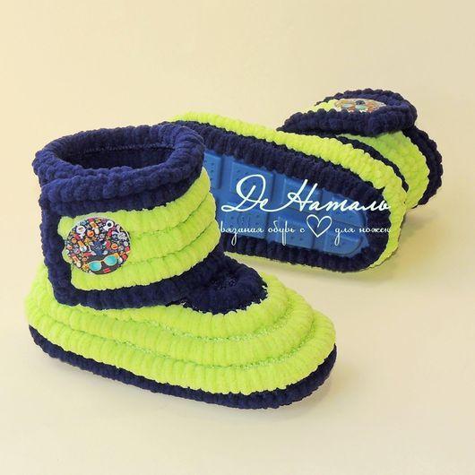 Обувь ручной работы, вязаная обувь, детская обувь, работы для детей, демисезонная обувь, домашние тапочки, летняя обувь, зимняя обувь, пинетки, сапожки, плюшевые сапожки, тапочки, ДеНаталь