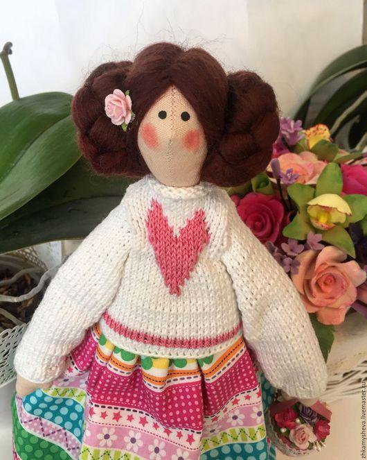 Элли. Цветочная феечка. Кукла Тильда.
