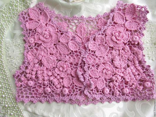 """Одежда для девочек, ручной работы. Ярмарка Мастеров - ручная работа. Купить Болеро для девочки """"Розовая мечта"""". Handmade. Розовый"""