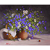 Картины и панно handmade. Livemaster - original item Oil painting bells
