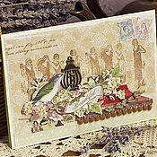 """Открытки ручной работы. Ярмарка Мастеров - ручная работа Ароматизированная открытка """"Лаванда"""". Handmade."""