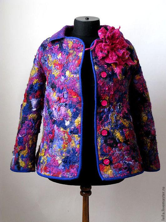 """Верхняя одежда ручной работы. Ярмарка Мастеров - ручная работа. Купить полупальто  """"Римские каникулы"""". Handmade. Фуксия, пальто женское"""