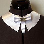 Аксессуары handmade. Livemaster - original item Accessories/ detachable collar, universal ,white, satin. Handmade.