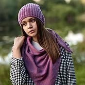 handmade. Livemaster - original item Hats: knitted hat with cashmere. Handmade.