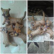 Куклы и игрушки ручной работы. Ярмарка Мастеров - ручная работа Котики кофейные. Handmade.