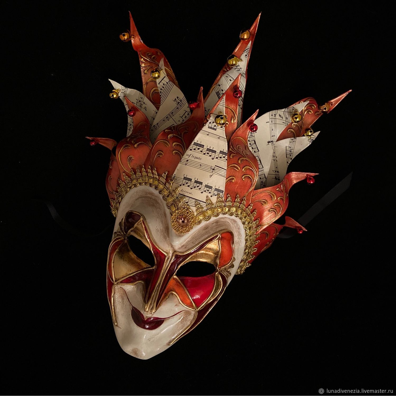 Маска венецианская Джокер Бориса Брейча Огонь, Маски, Москва, Фото №1