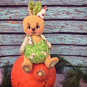 Куклы и игрушки ручной работы. Ярмарка Мастеров - ручная работа Яблочный Ренет,  тедди заяц. Handmade.