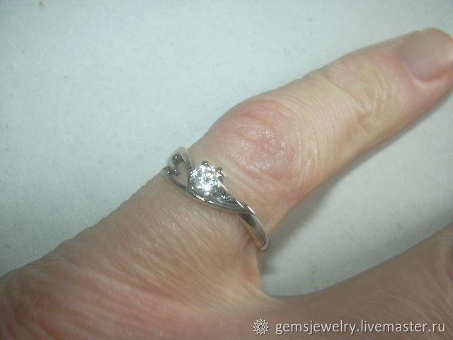 Ring 'HELLO' cubic Zirconia,silver 925, Rings, Ekaterinburg,  Фото №1