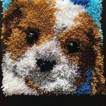 Textiles handmade. Livemaster - original item Pillow case carpet Dog technique. Handmade.