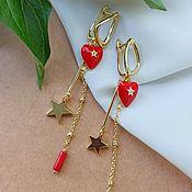 Украшения handmade. Livemaster - original item Classic Starfall Earrings. Handmade.