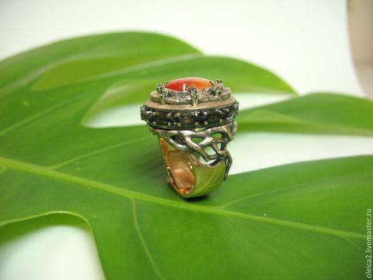"""Кольца ручной работы. Ярмарка Мастеров - ручная работа. Купить Кольцо """"Камбоджа""""2. Handmade. Желтый, авторские украшения, кольцо с камнями"""