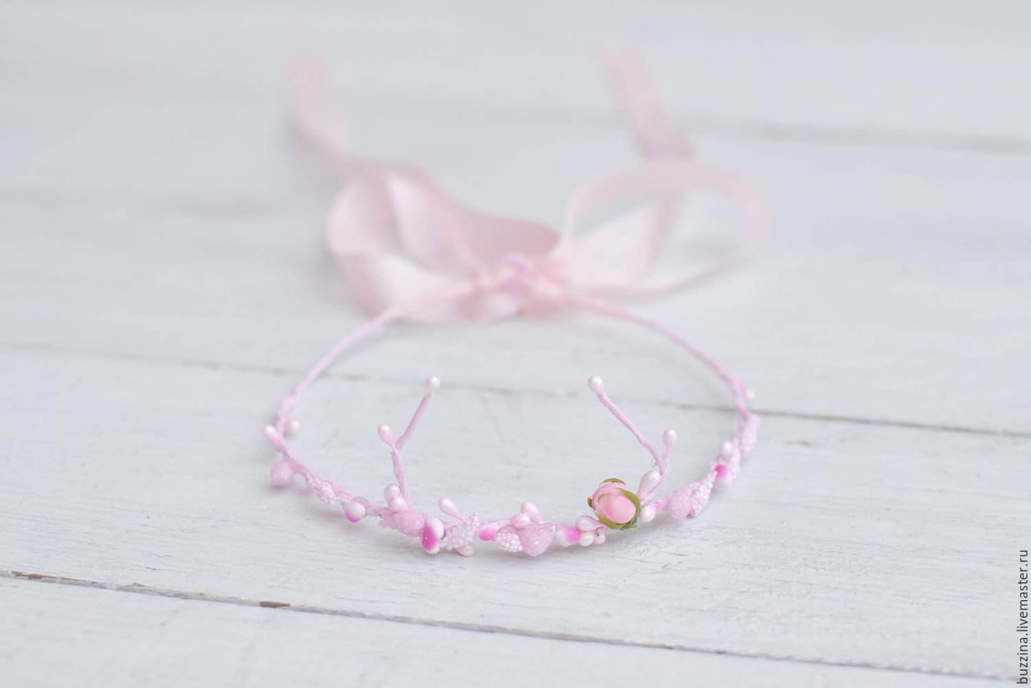 A wreath with horns pink for newborn photo shoot, Tiaras, Moscow,  Фото №1