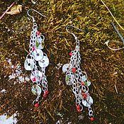 Украшения ручной работы. Ярмарка Мастеров - ручная работа Комплект украшений с металлическими подвесками. Handmade.