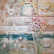 Картины и панно ручной работы. Ярмарка Мастеров - ручная работа Лета полный комод. Handmade.