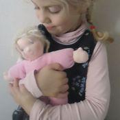 Куклы и игрушки ручной работы. Ярмарка Мастеров - ручная работа Вальдорфская куколка в пришивном комбинезоне.. Handmade.